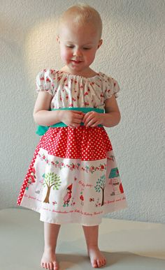 Reserved Little Red Ridding Hood Dress for danyllepetty Little Red Ridding Hood, Red Riding Hood, Little Girl Dresses, Little Girls, Gnome Costume, Birthday Souvenir, Hood Girls, Crafts For Girls, Woodland Party