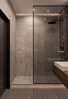 100 Bathroom Shower Design Ideas You'll Love A collection of 15 Exquisite Modern Shower Designs For Your Modern with which we hope to give you inspiration and ideas. Bad Inspiration, Bathroom Inspiration, Bathroom Ideas, Bathroom Organization, Bathroom Spa, Bathroom Storage, Bathroom Grey, Master Bathrooms, Bathroom Layout