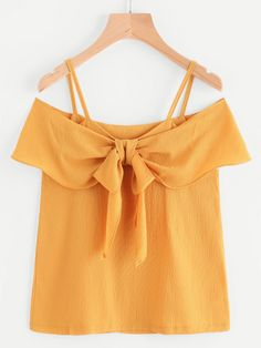 SheIn offers Cold Shoulder Frill Trim Top & more to fit your fashionable needs. Crop Top Outfits, Cute Outfits, Look Fashion, Fashion Outfits, Short Sleeve Collared Shirts, Abaya Fashion, Baby Girl Dresses, Blouse Designs, Casual Looks