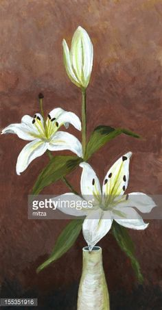 acrylic painted lily flower - Google Search