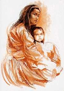 Navajo Madonna - Paul Calle - World-Wide-Art.com
