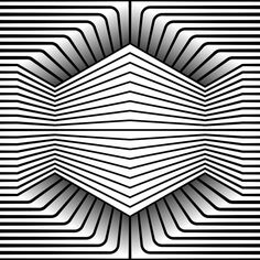 """day 236 - Monthly theme """"Hexxed"""" built in Illustrator. Op Art, Cool Optical Illusions, Optical Illusion Art, Illusion Drawings, Monthly Themes, Geometry Art, Zentangle Patterns, Drawing Techniques, Fractal Art"""