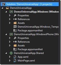 Windows (Phone) 8.1 : Universal App