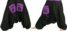 Turecké kalhoty - Aladinky - Haremky - Pumpy černo-fialové Harem Pants, Fashion, Moda, La Mode, Harlem Pants, Fasion, Fashion Models, Trendy Fashion, Harem Trousers