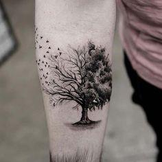 iç kol ağaç dövmesi forearm tree tattoo