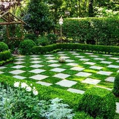 "69 Likes, 2 Comments - Mary Lynn Mabray, ASID (@marylynnmabray) on Instagram: ""This checkerboard style garden art...#gardenart #limestone #checkerboard"""