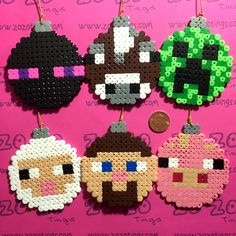 Minecraft Set 1 Christmas Pixel Baubles via Zo Zo Tings. Click on the image to see more!