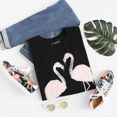 Flamingo Sweatshirt for summer ❤