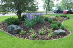 landscaping berms | Bermed plantings with outcorp boulders designed for this Lake Calhoun ...