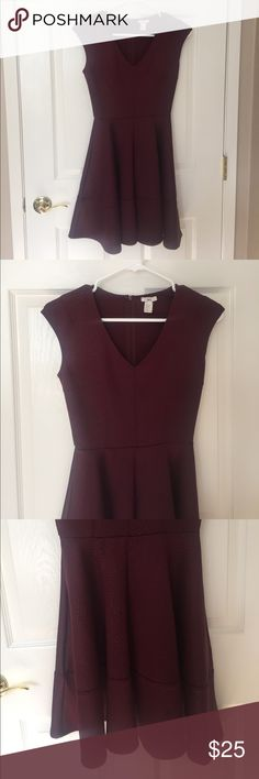 Bar III Fit & Flare Dress Circle Skirt. Wine color. Bar III Dresses Mini