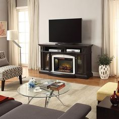 All that's missing is hot chocolate and your fave Christmas movie! Learn more about this Scott Living electric fireplace via link in bio. Media Electric Fireplace, Faux Shiplap, Grey Wood, Christmas Movies, Home Improvement Projects, Decorating Tips, Hot Chocolate, Family Room, Home Appliances