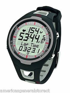 Heart Rate Monitors 177841: Sigma Pc15.11 Heart Rate Monitor Topline Black Gray Watch Lap Counter Calorie -> BUY IT NOW ONLY: $49.99 on eBay!