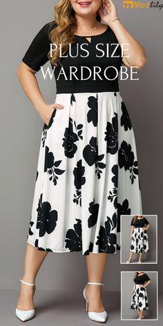 Show your beauty boldly. Simple Dresses, Plus Size Dresses, Plus Size Outfits, Casual Dresses, Fashion Dresses, Chic Winter Outfits, Summer Outfits Women, Modelos Plus Size, Plus Size Kleidung
