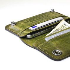 Aged leather wallet/iphone case    $149.00
