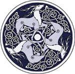 Celtic Art - Stags by Vítor González.