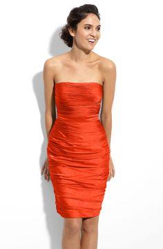 Fall Wedding Inspiration: Orange Monique Lhuillier Bridesmaid Dress