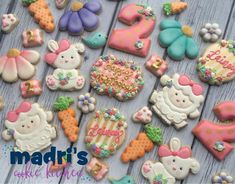 "404 Likes, 12 Comments - Madri Mahtani (@madriscookiekitchen) on Instagram: ""Bunnies and lambs for Lainey's second birthday #madriscookiekitchen #decoratedcookies…"""