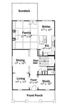 First Floor image of Kensington II - A House Plan