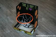 The 30 Cutest Valentine's Day Card Box Holder Ideas Basketball Hoop Valentine's Day Card Box for your athletic little one!