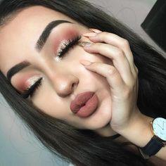 Pin by Natasha Gomez on make up tutorial in 2019 Glam Makeup, Full Face Makeup, Makeup Inspo, Eyeshadow Makeup, Makeup Inspiration, Beauty Makeup, Drugstore Makeup, Huda Beauty, Makeup Style
