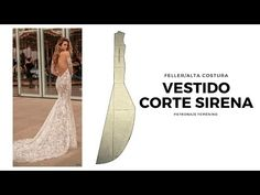 Wedding Dress Course Step by Step - My Fashion World - Sewing Courses Dress Paterns, Dress Sewing Patterns, Clothing Patterns, Ways To Wear A Scarf, How To Wear Scarves, Sewing Courses, Modelista, Gown Pattern, Bridal Stores