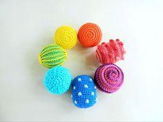Montessori sensory balls / Waldorf crochet toy / Baby development toys / Toddler activity crochet rattle montessori baby toys Color Montessori, Montessori Baby Toys, Montessori Materials, Crochet Ball, Crochet Baby Toys, Halloween Gift, Organic Baby Toys, Crochet Storage, Rainbow Crochet