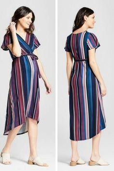 3c69e901307 MaCherie Maternity Short Sleeve High Low Dress - MaCherie - Indigo Stripe   ad