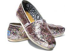glitter is a color, right? // TOMS Bright Multi Glitter Classics