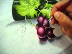 Search Results Pintar uva Fruit Painting, One Stroke Painting, Tole Painting, Fabric Painting, Painting & Drawing, Acrylic Painting Techniques, Painting Videos, Acrylic Painting Tutorials, Fruit Art