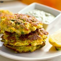 Cauliflower Broccoli Fritters