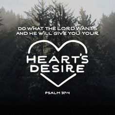 """""""Delight thyself also in the Lord; and he shall give thee the desires of thine heart."""" Psalms 37:4 KJV"""