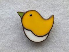 トリ (黄) ブローチの画像