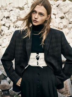 Sasha Pivovarova photographed by Gregory Harris for Vogue Paris November 2016