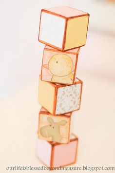 DIY decorative baby blocks