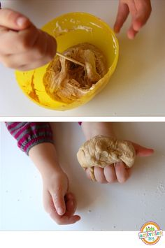 play dough made from peanut butter and marshmallows