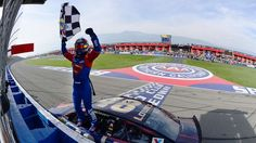 Best photos from Sunday's Sprint Cup race at Auto Club Speedway | FOX Sports.  Jimmie as Superman.