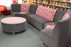 Churchlands Senior High School has complimented their library with amazing modular seating. The DVA Sassy range of modular seating is extremely versatile. The seating Churchlands SHS has chosen allows the students to move the couches and ottomans when required as well as allowing the librarians flexibility to change the configuration of the library. Thank you to the fantastic staff at Churchlands. Call our office for further information.