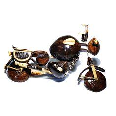 Bicicleta de bala com casca de coco - Happy Market Super Glue, Coconut Shell, Bullet, Shells, Ice Cream, Bike, Antiques, Gifts, Accessories