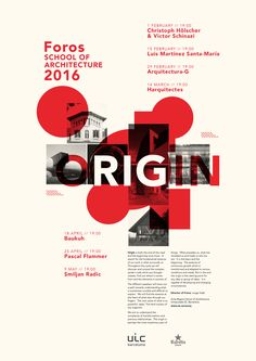 Get Lectured UIC Barcelona Foros 2016 Image courtesy of UIC Barcelona School of Architecture Archinect Poster Design Layout, Graphic Design Layouts, Graphic Design Posters, Graphic Design Typography, Graphic Design Inspiration, Cool Poster Designs, Art Designs, Graphisches Design, Game Design