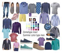 """Zomertype man/ Summer color type men."" by roorda on Polyvore featuring mode, J.Crew, Banana Republic, Converse, Volcom, NIKE, BOSS Orange, Doublju, Levi's en Nautica"