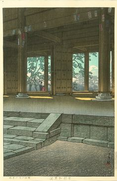Chionin Temple, Kyoto, by Kawase Hasui, 1933