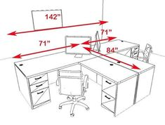 Two Persons Modern Executive Office Workstation Desk Set, – Home Office Design Layout Home Office Layouts, Home Office Space, Small Office, Office Interior Design, Home Office Decor, Office Interiors, Home Decor, Design Furniture, Office Furniture