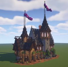 Epic Minecraft Houses, Minecraft Castle Walls, Minecraft Cottage, Minecraft Medieval, Minecraft Plans, Minecraft Survival, Minecraft Art, Minecraft Creations, How To Play Minecraft