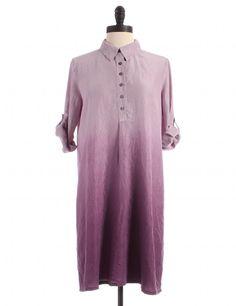 Silk Purple Tab Sleeve Shirtdress by J.Jill - Size SP - $32.00 on LikeTwice.com