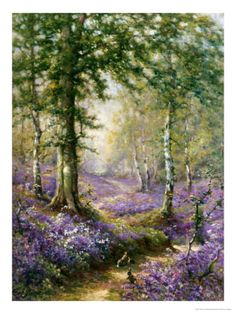 The Bluebell Wood by Alfred Fontville de Breanski