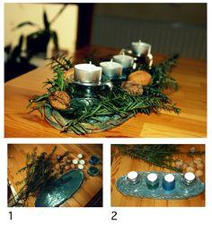 Advendsplatte. Weitere Ideen auf: http://liebenswertekleinedinge.blogspot.de/