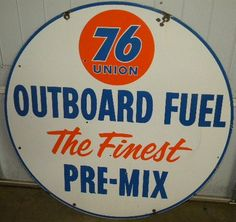 vintage gas station signs | ... OLD Union 76 Outboard Fuel DSP Porcelain 42 Inch Gas Station Sign