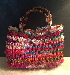 Hand Knit Purse by TheMerryCricket on Etsy