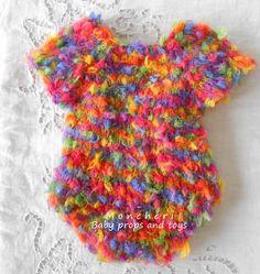 1d17697d3a04 Pletené duhové body + čepička   Zboží prodejce Monchéri baby props and toys