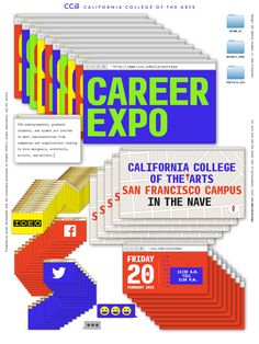 California College of the Arts poster - Author unknown ? Using computer's windows as graphic design.
